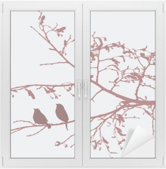Nálepka na Sklo a Okna Ptáci na jaře