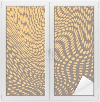 Nálepka na Sklo a Okna Půltón účinek deformován do boulí a vln. Plaz podobnost kůže. vektor pozadí
