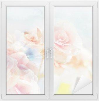 Nálepka na Sklo a Okna Romantické Růže ve stylu vintage