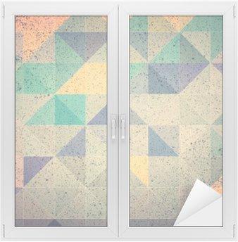 Nálepka na Sklo a Okna Růžová a fialová trojúhelník abstraktní pozadí obrázku