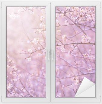 Nálepka na Sklo a Okna Třešeň květ