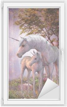 Nálepka na Sklo a Okna Unicorn Mare a hříbě