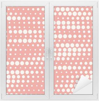 Nálepka na Sklo a Okna Vektorové ilustrace bezešvých půltón pozadí v červené pastelových barvách