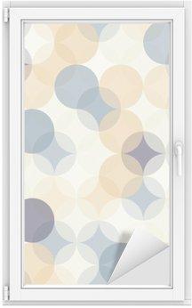 Nálepka na Sklo a Okna Vektorové moderní bezešvé barevné geometrie vzor kruhy, barevné abstraktní geometrické pozadí, tapety tisk, retro textura, bederní módní návrhářství, __