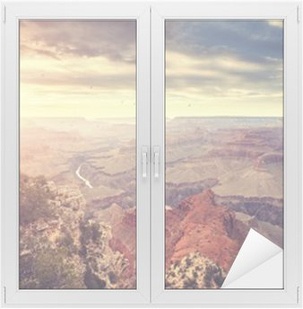Nálepka na Sklo a Okna Vintage tónovaný západ slunce nad Grand Canyon, jeden z nejlepších turistických destinací ve Spojených státech.
