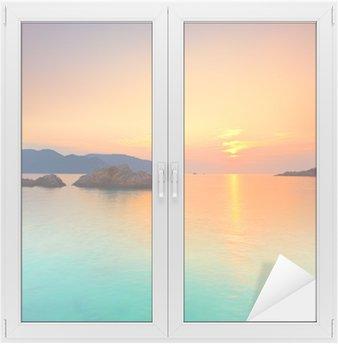 Nálepka na Sklo a Okna Východ slunce