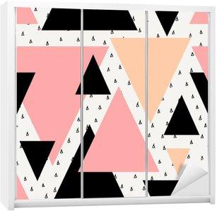 Nálepka na Skříň Abstraktní geometrické bezešvé vzor.