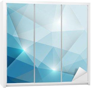 Nálepka na Skříň Abstraktní geometrické trojúhelníky pozadí