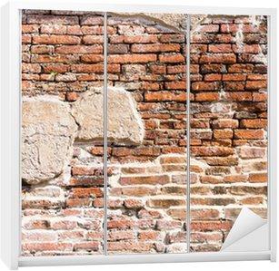 Nálepka na Skříň Ancient brick wall fragment