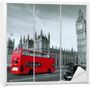 Nálepka na Skříň Autobus v Londýně