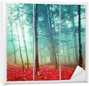 Nálepka na Skříň Barevné mystické podzimní stromy