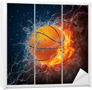 Nálepka na Skříň Basketbalový míč