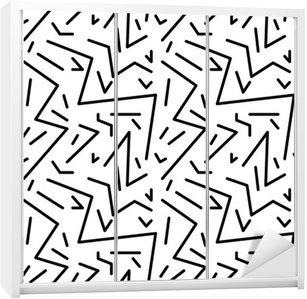 Nálepka na Skříň Bezešvé geometrický vzor vinobraní v retro stylu 80. let, Memphis. Ideální pro konstrukci materiálu, papíru a tisku webových stránek pozadí. EPS10 vektorový soubor