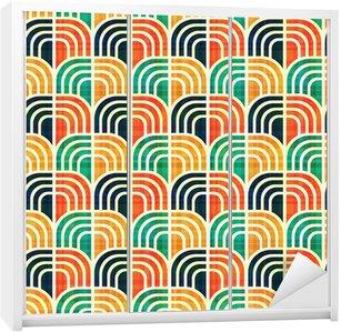 Nálepka na Skříň Bezešvé geometrický vzor.