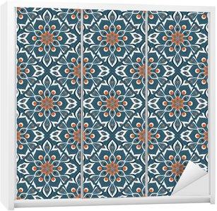 Nálepka na Skříň Bezešvé ručně malovaná mandala vzor.