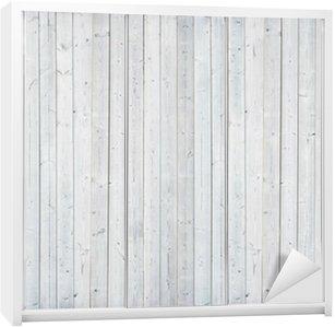 Nálepka na Skříň Bílá dřevěná stěna