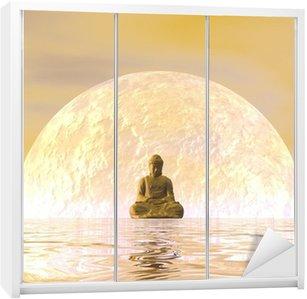 Nálepka na Skříň Buddha Meditace - 3d render