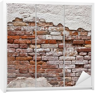 Nálepka na Skříň Cihlová zeď