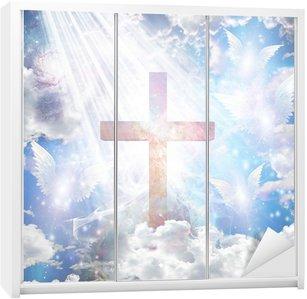 Nálepka na Skříň Cross a andělské formy