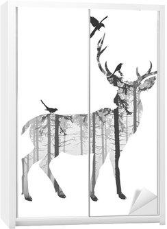Nálepka na Skříň deer