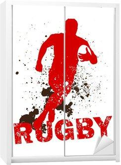 Nálepka na Skříň Dirty Rugby Player