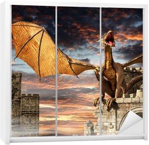 Nálepka na Skříň Drak na zámku