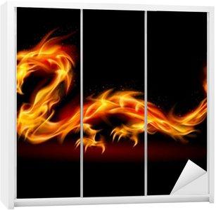 Nálepka na Skříň Fire Dragon