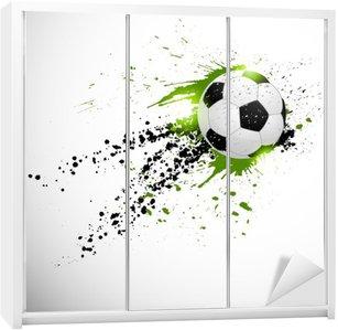 Nálepka na Skříň Fotbal designu