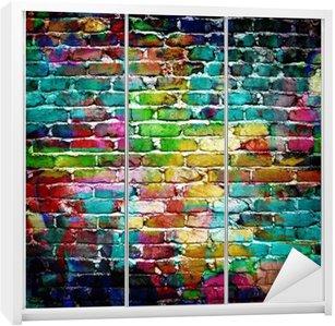 Nálepka na Skříň Graffiti cihlová zeď