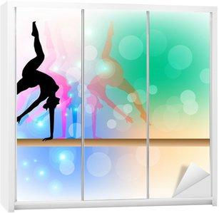 Nálepka na Skříň Gymnastika - Beam