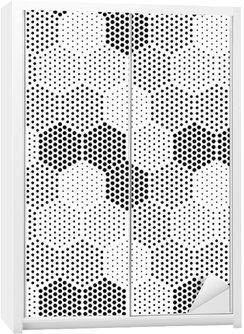 Nálepka na Skříň Hexagon Illusion Pattern