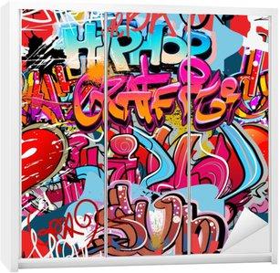 Nálepka na Skříň Hip hop graffiti urban art pozadí