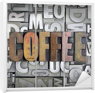 Nálepka na Skříň Káva