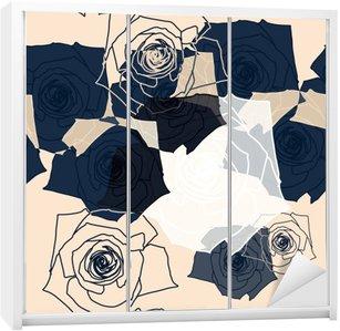 Nálepka na Skříň Květinový vzor bezešvé, EPS 10