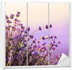 Nálepka na Skříň Lavender květiny kvetou letní čas