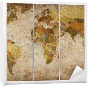 Nálepka na Skříň Map world