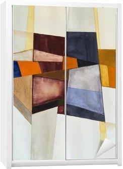 Nálepka na Skříň Modernista abstraktní akvarel
