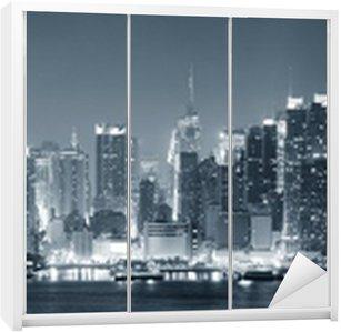 Nálepka na Skříň New York City Manhattan černé a bílé