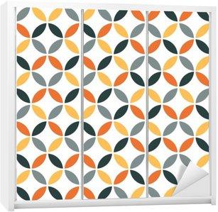 Nálepka na Skříň Orange Geometrická Retro bezešvé vzor