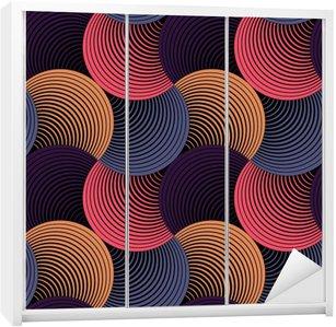 Nálepka na Skříň Ozdobený Geometrické Petals Grid, abstraktní vektorové bezešvé vzor