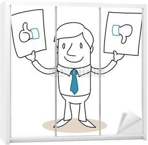 Nálepka na Skříň Podnikatel znaky, thumbs up / down