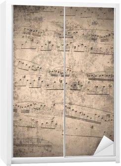 Nálepka na Skříň Ročník hudební poznámky
