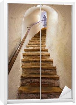 Nálepka na Skříň Schody v hradě Kufstein - Rakousko