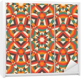 Nálepka na Skříň Seamless Mosaic Pattern