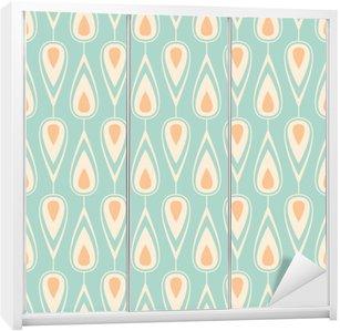 Nálepka na Skříň Seamless vintage pattern