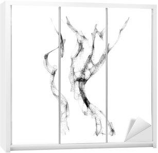 Nálepka na Skříň Silueta krásné nahé ženy vektorové ilustrace