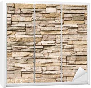 Nálepka na Skříň Skládaný kamenná zeď na pozadí horizontální