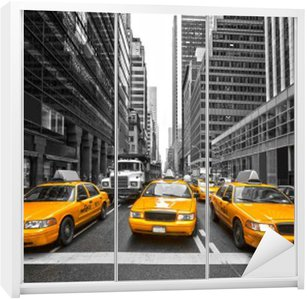 Nálepka na Skříň TYellow taxi v New Yorku, USA.