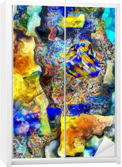 Nálepka na Skříň Úhlová Abstract