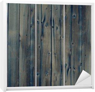 Nálepka na Skříň Vintage dřevo pozadí